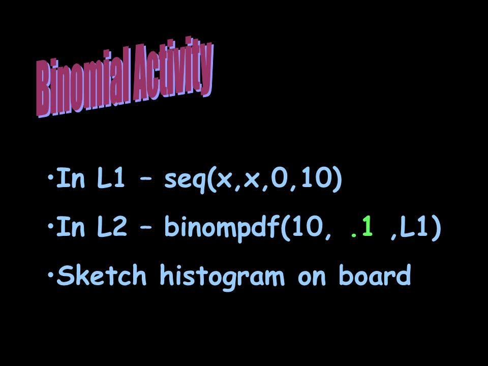 Sketch histogram on board
