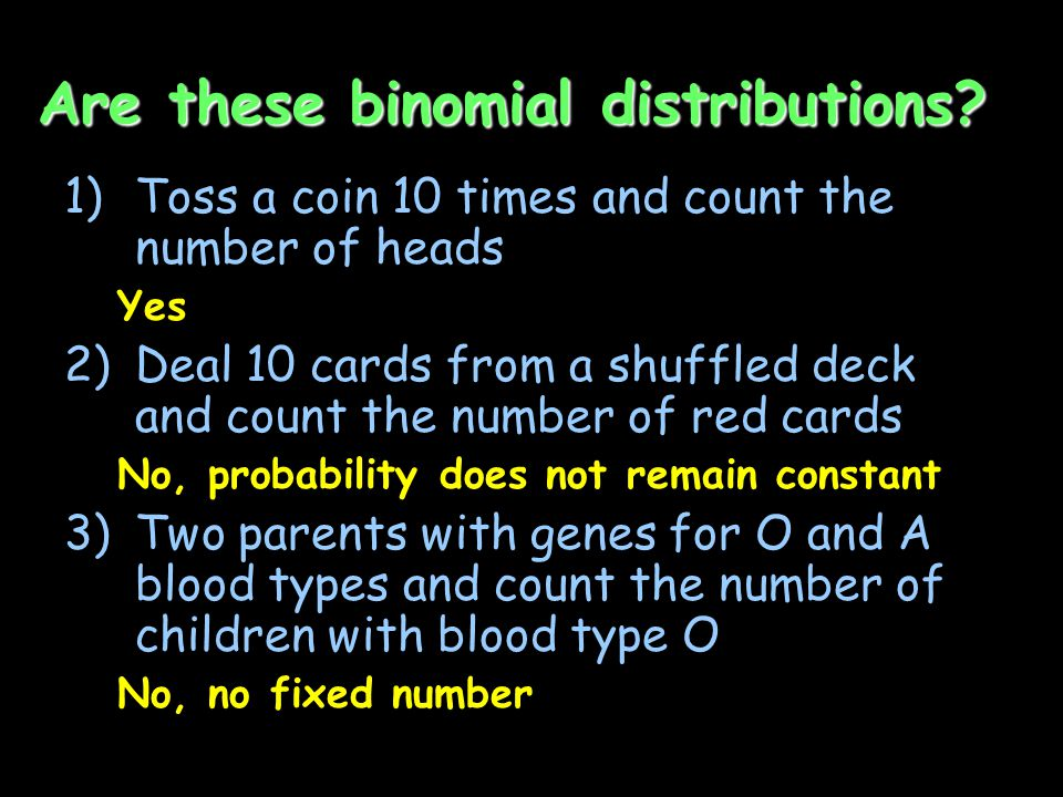 Are these binomial distributions