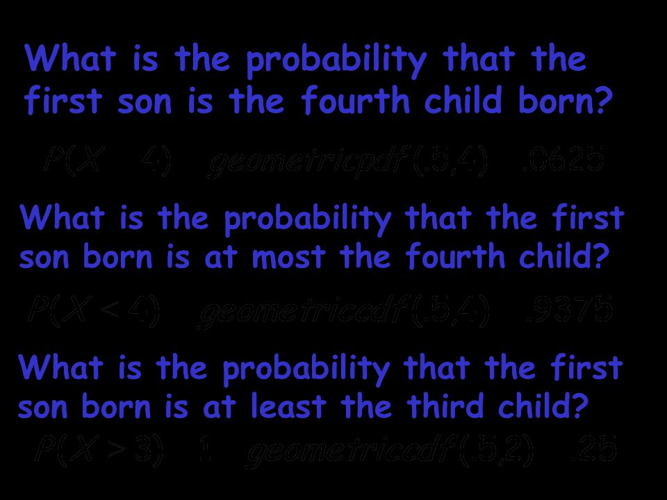 What is the probability that the first son is the fourth child born