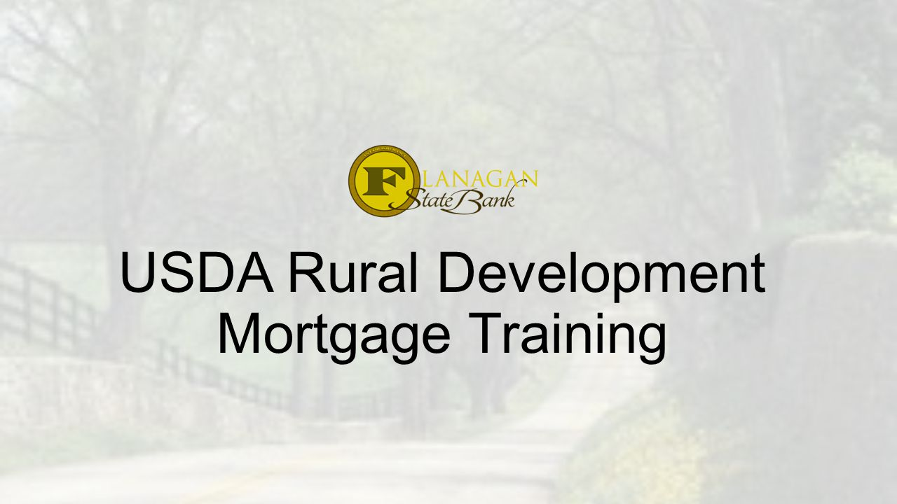 USDA Rural Development Mortgage Training