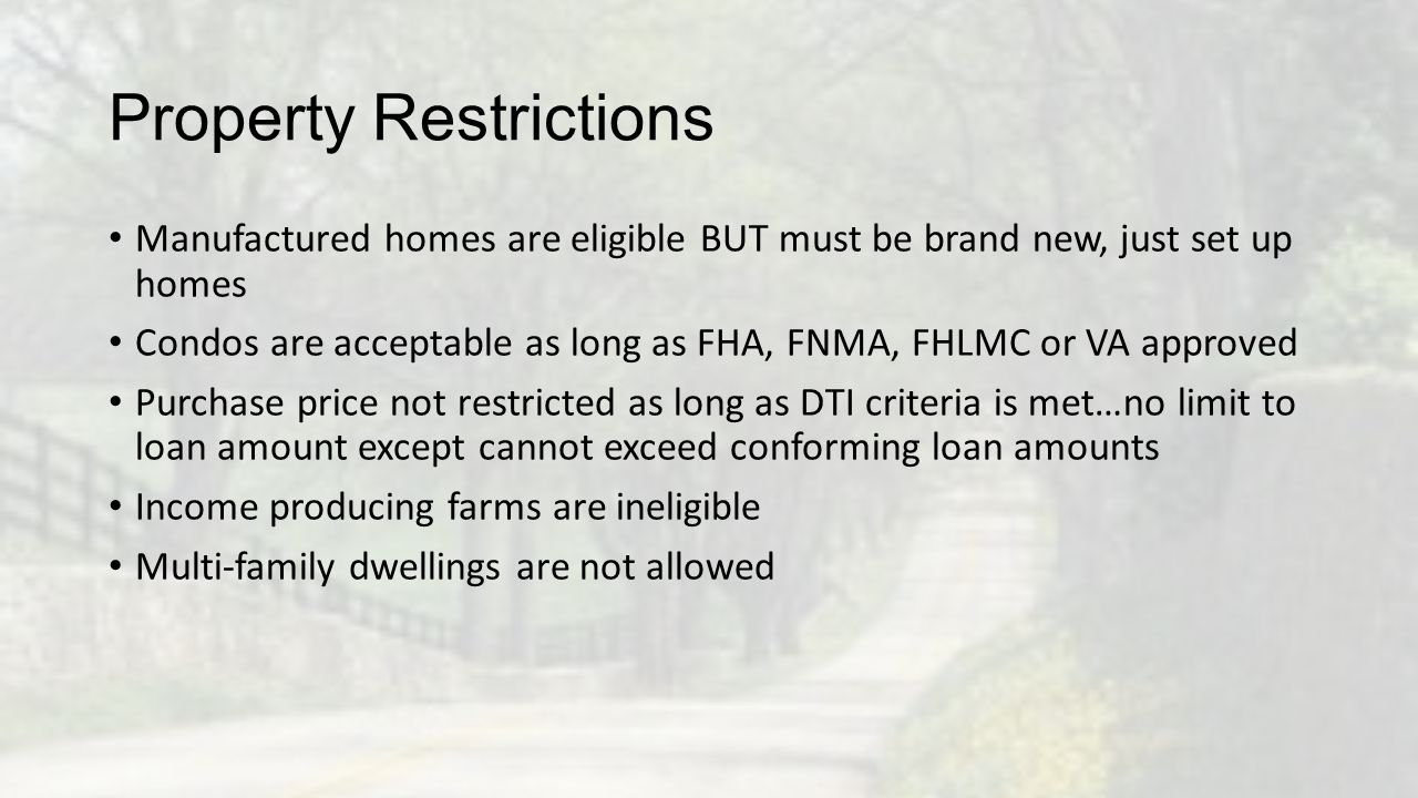 Property Restrictions