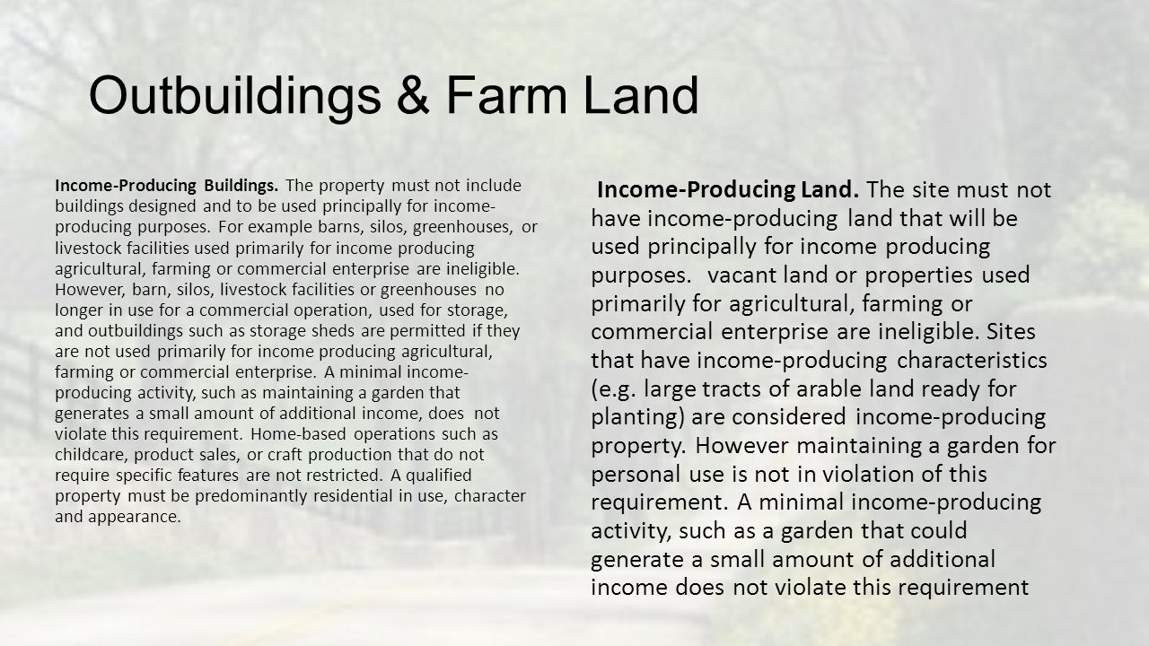 Outbuildings & Farm Land