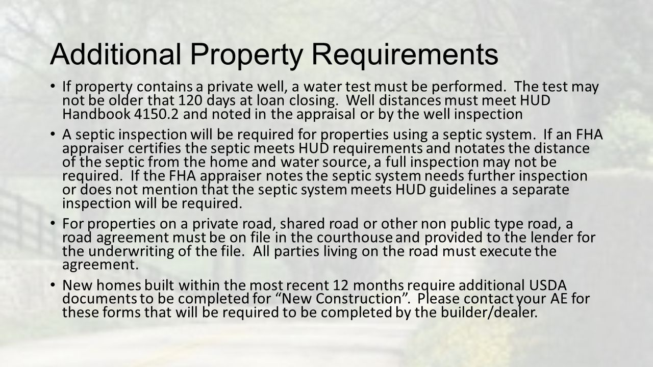 Additional Property Requirements