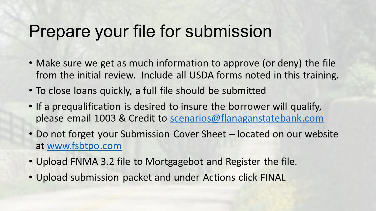 Prepare your file for submission