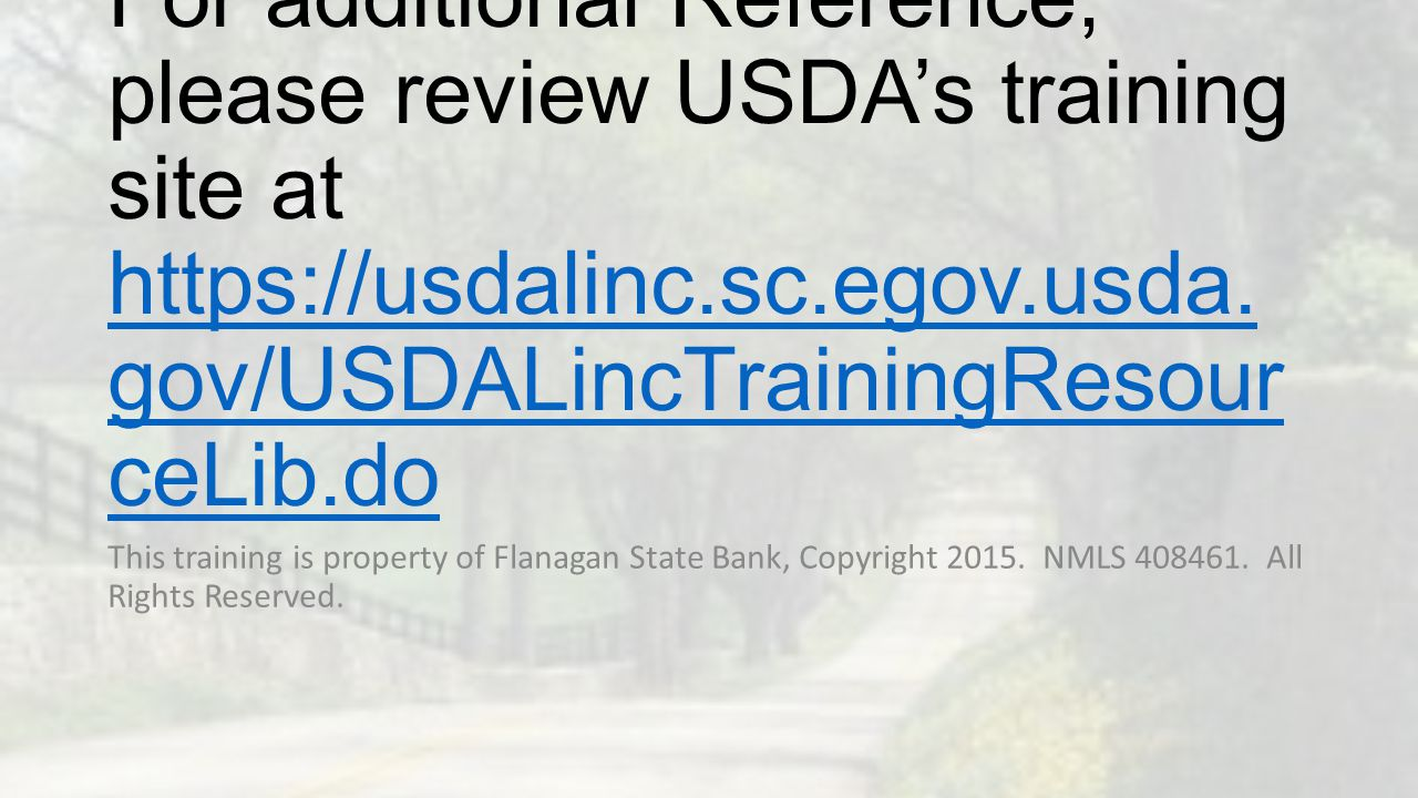 For additional Reference, please review USDA's training site at https://usdalinc.sc.egov.usda.gov/USDALincTrainingResourceLib.do
