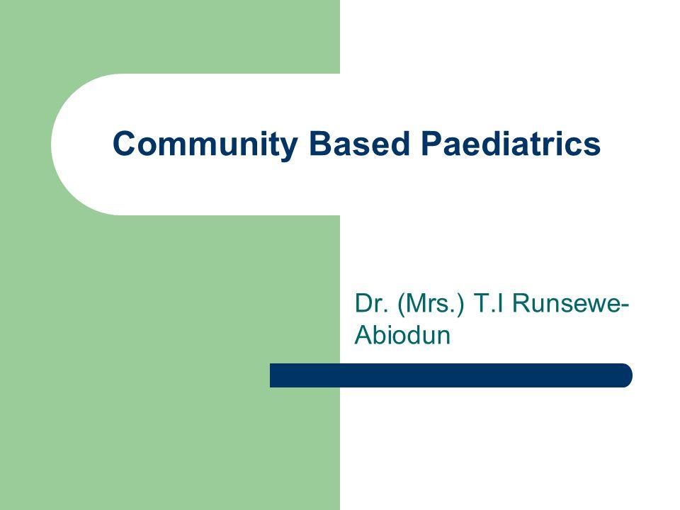 Community Based Paediatrics