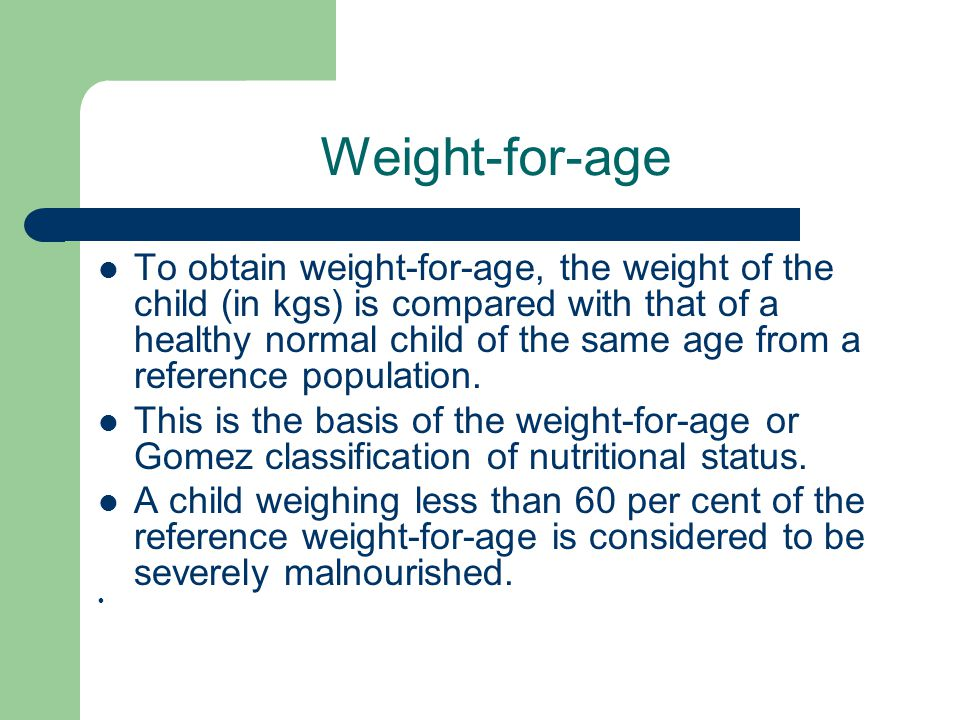 Weight-for-age