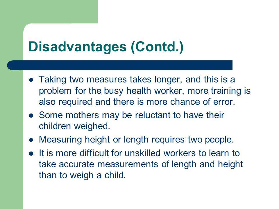 Disadvantages (Contd.)