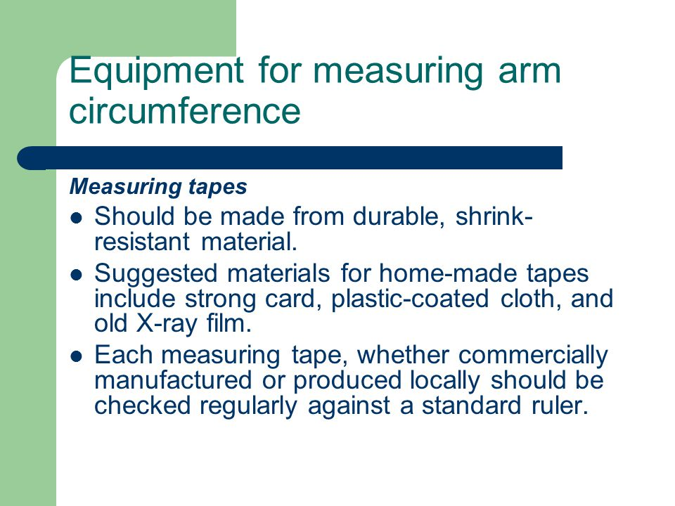 Equipment for measuring arm circumference