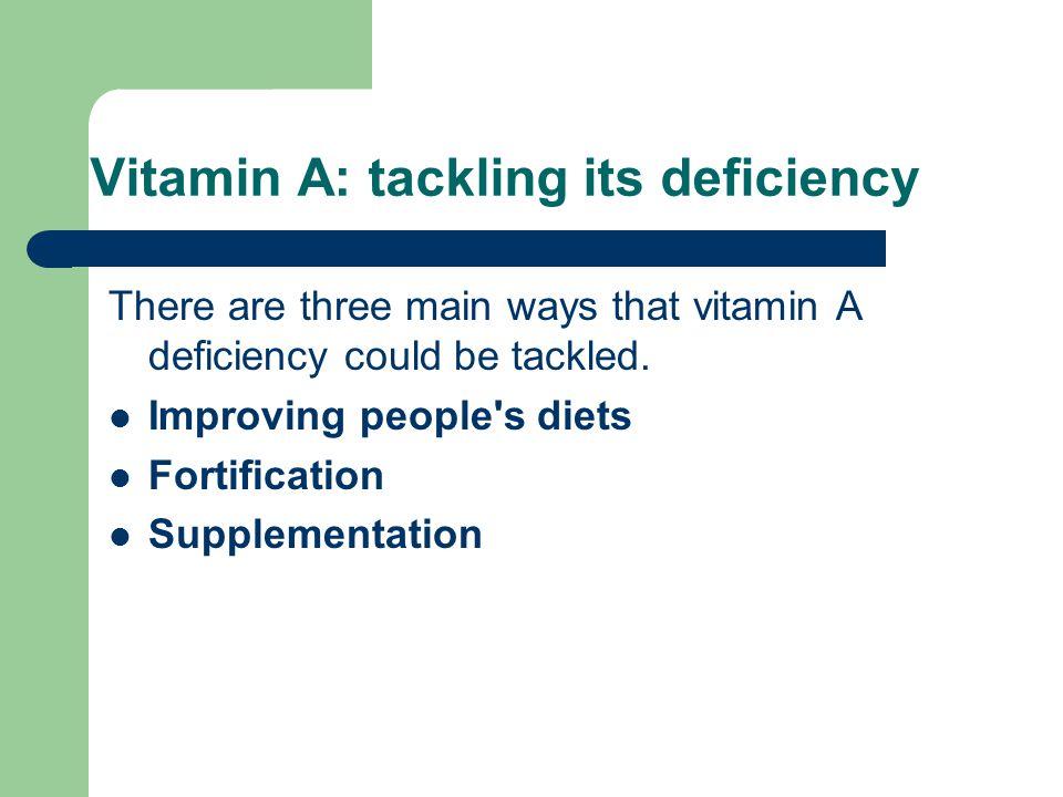 Vitamin A: tackling its deficiency