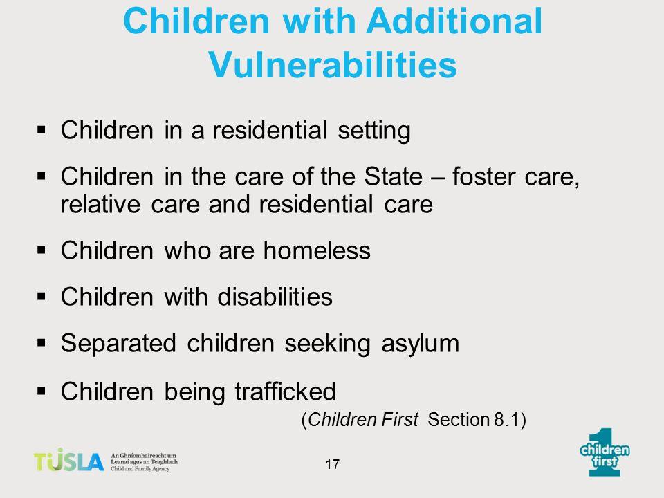 Children with Additional Vulnerabilities