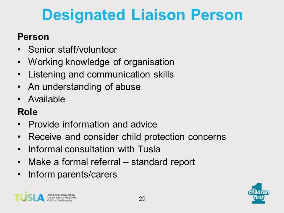 Designated Liaison Person