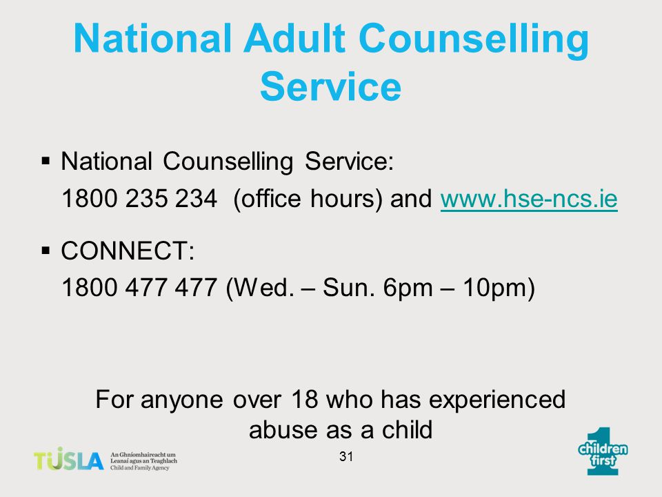 National Adult Counselling Service