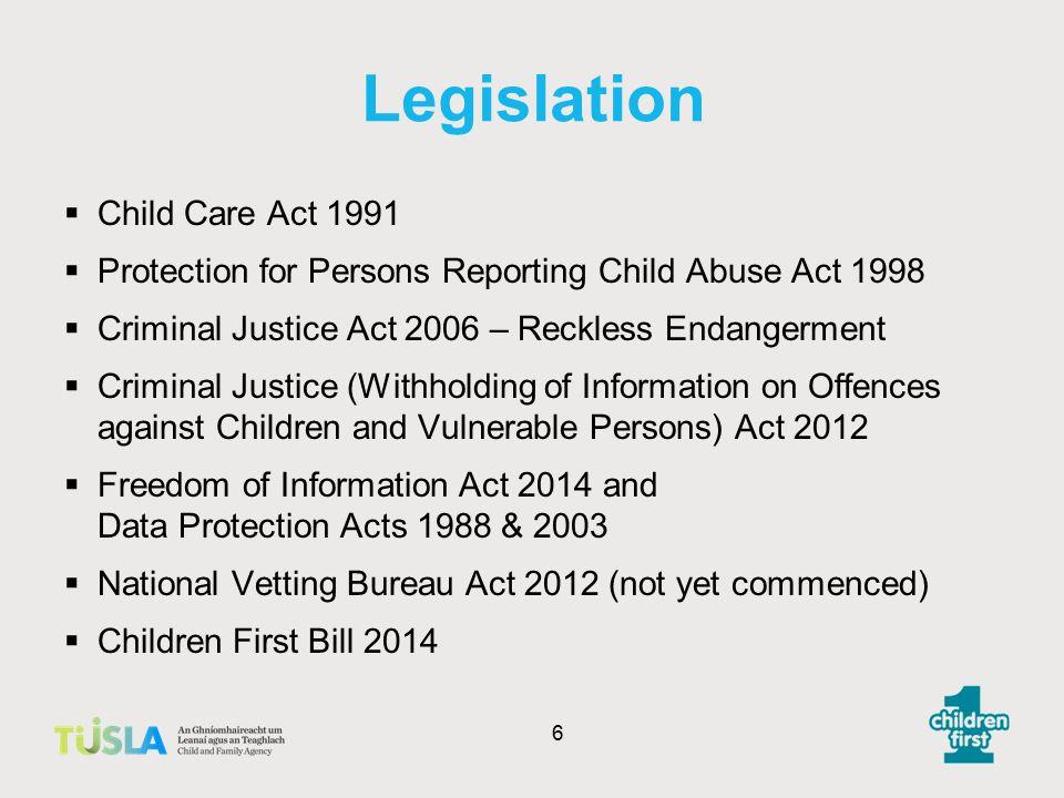 Legislation Child Care Act 1991