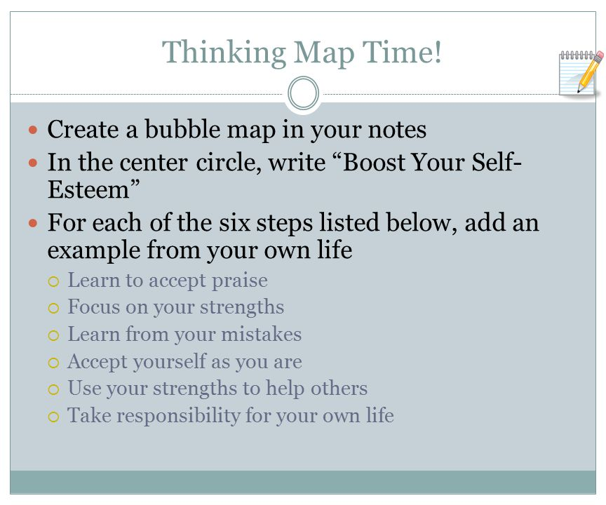 Thinking Map Time! Create a bubble map in your notes