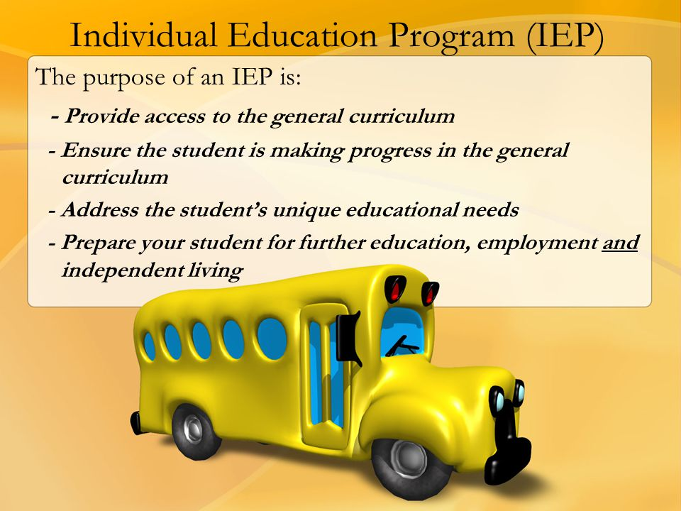 Individual Education Program (IEP)