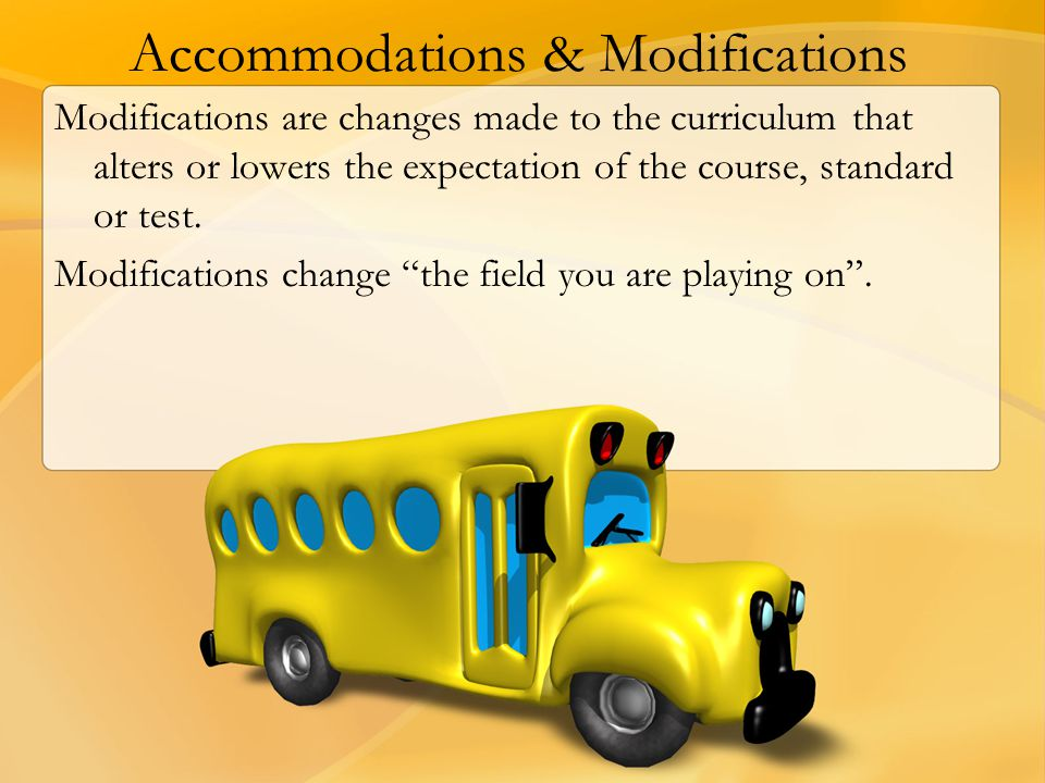 Accommodations & Modifications