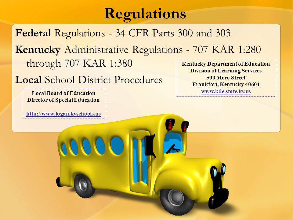 Regulations Federal Regulations - 34 CFR Parts 300 and 303