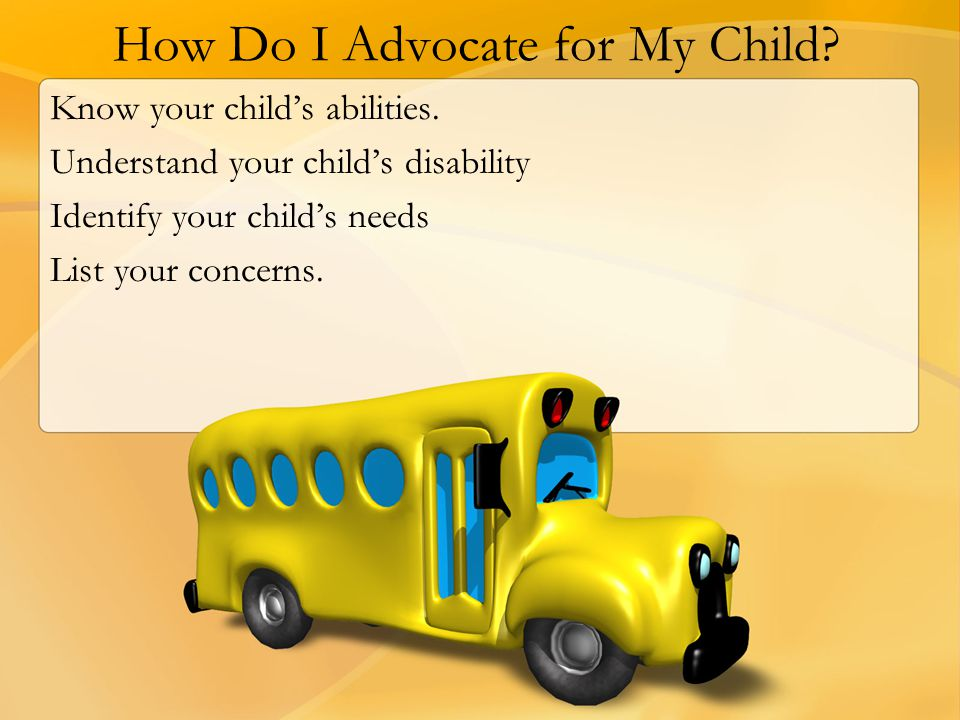 How Do I Advocate for My Child