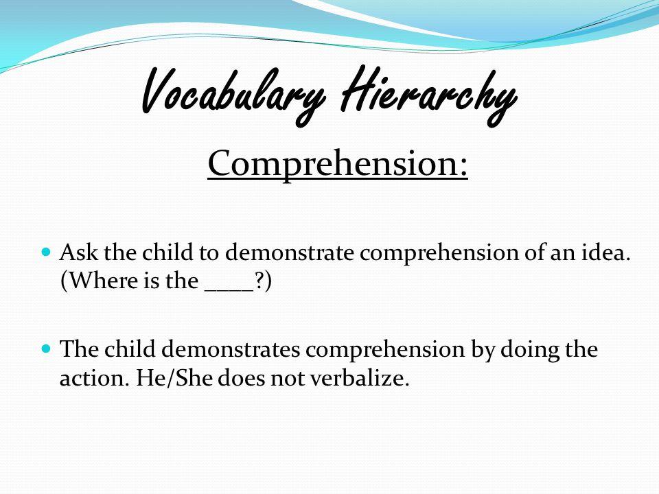 Vocabulary Hierarchy Comprehension: