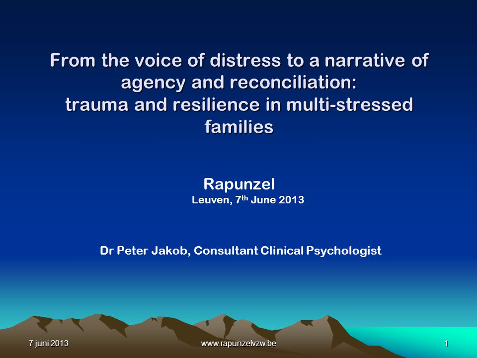 From the voice of distress to a narrative of agency and reconciliation: trauma and resilience in multi-stressed families