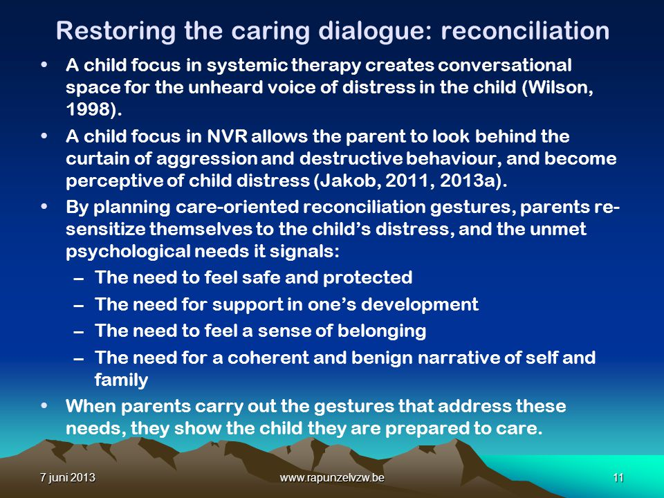 Restoring the caring dialogue: reconciliation