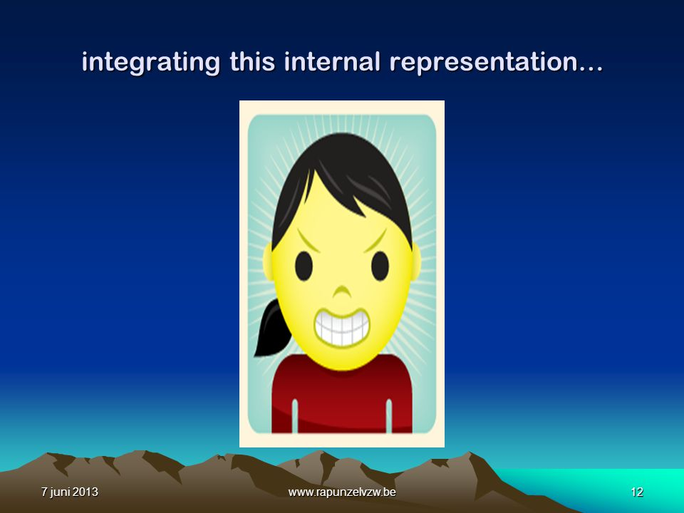 integrating this internal representation…