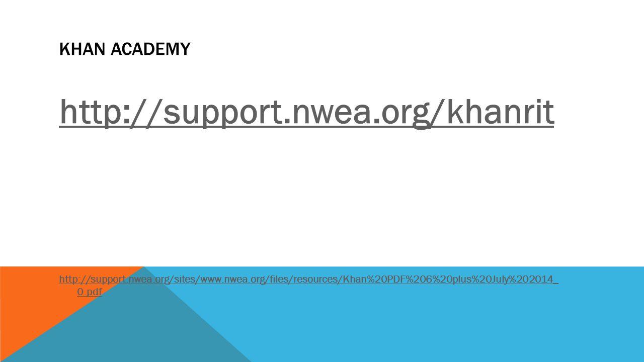 http://support.nwea.org/khanrit Khan Academy