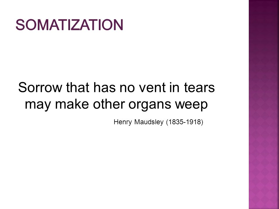 Sorrow that has no vent in tears may make other organs weep