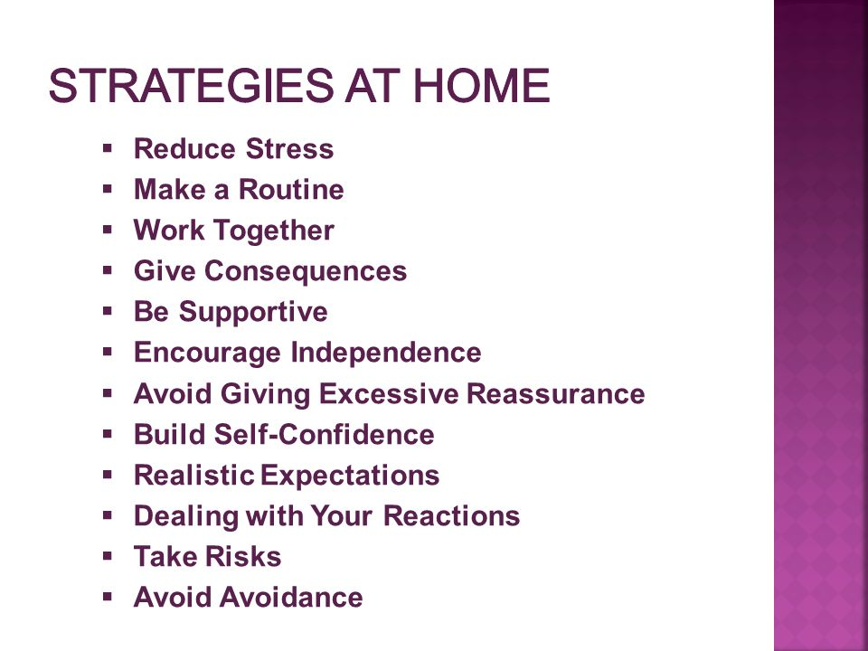 Strategies at Home Reduce Stress Make a Routine Work Together