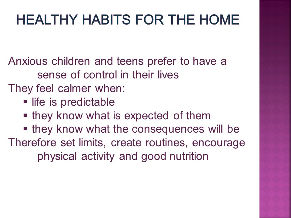 Healthy Habits for the Home