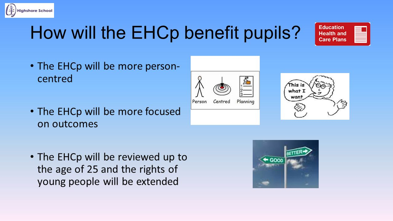 How will the EHCp benefit pupils
