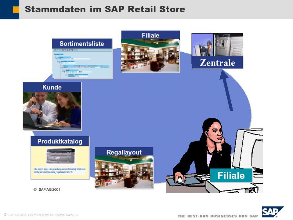 Stammdaten im SAP Retail Store