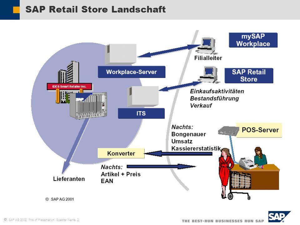 SAP Retail Store Landschaft