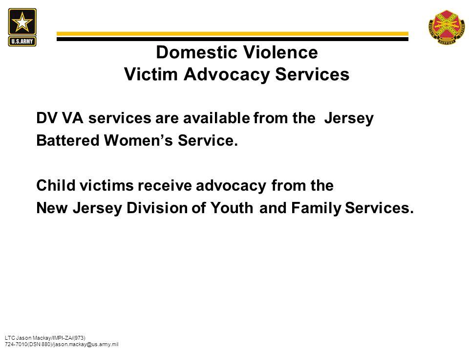 Domestic Violence Victim Advocacy Services