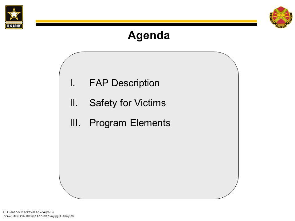 Agenda FAP Description Safety for Victims Program Elements