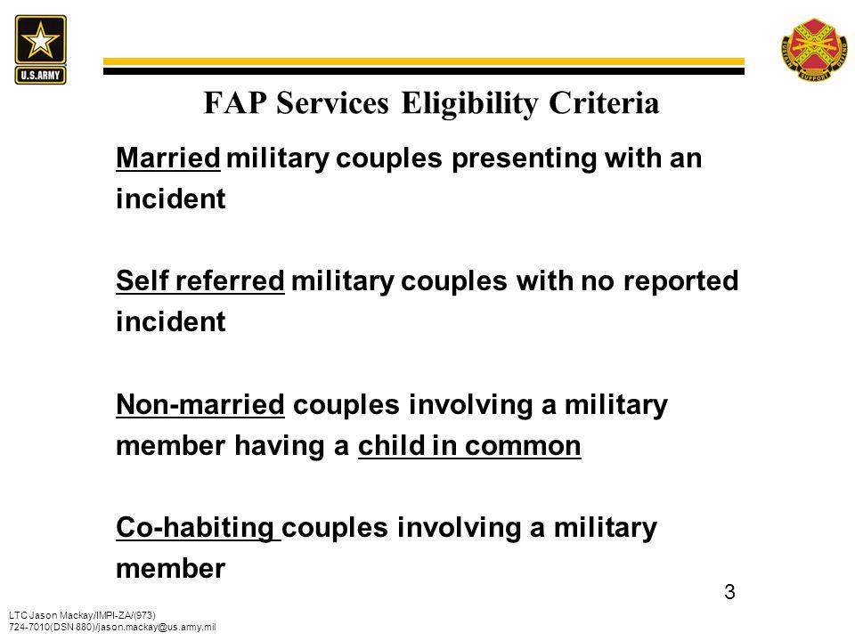 FAP Services Eligibility Criteria