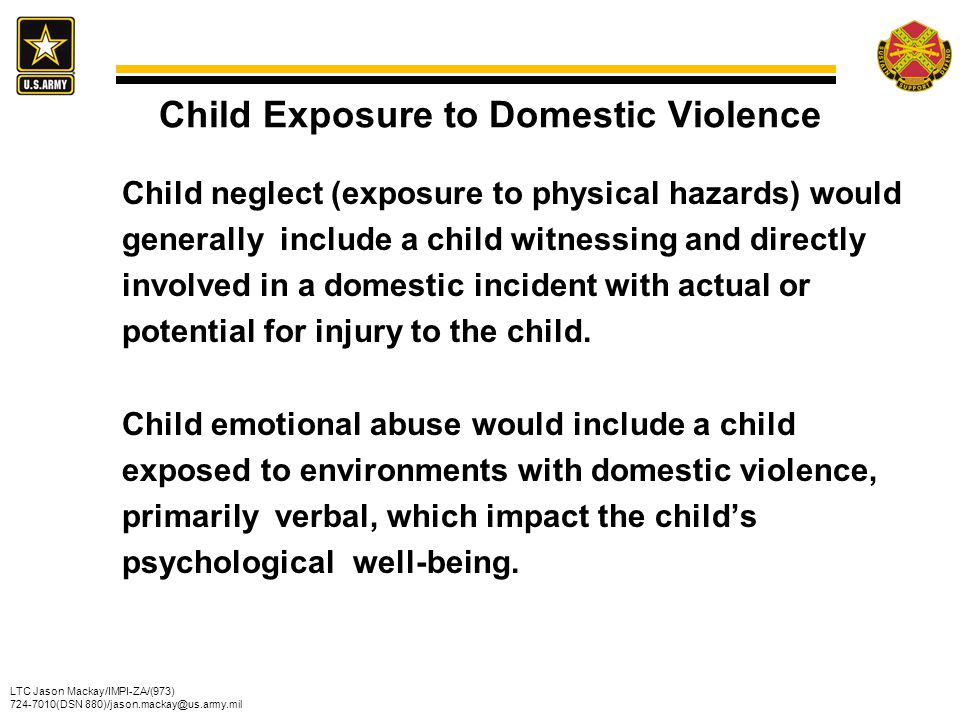 Child Exposure to Domestic Violence