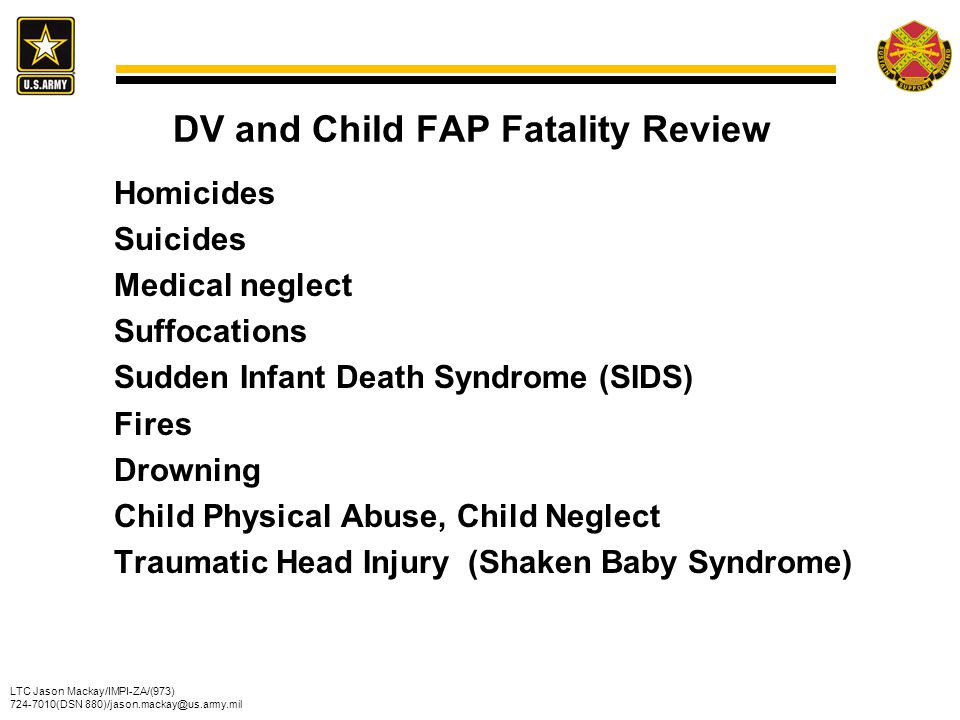 DV and Child FAP Fatality Review