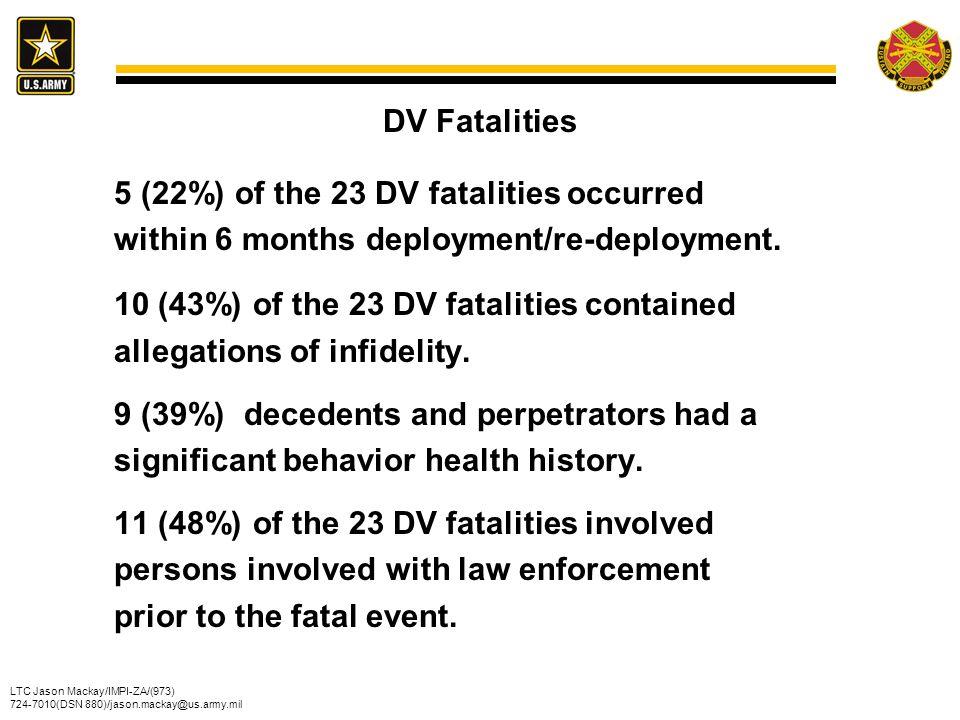 DV Fatalities