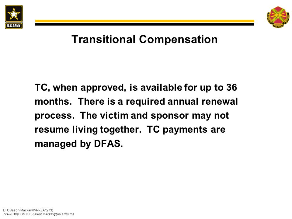Transitional Compensation