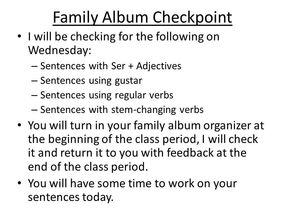 Family Album Checkpoint