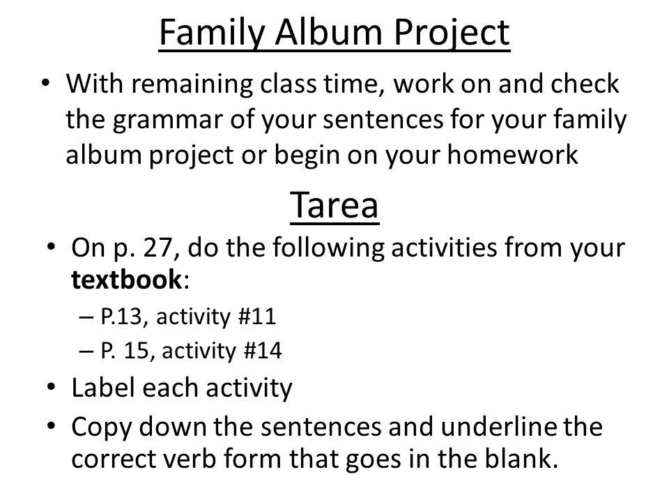 Family Album Project Tarea