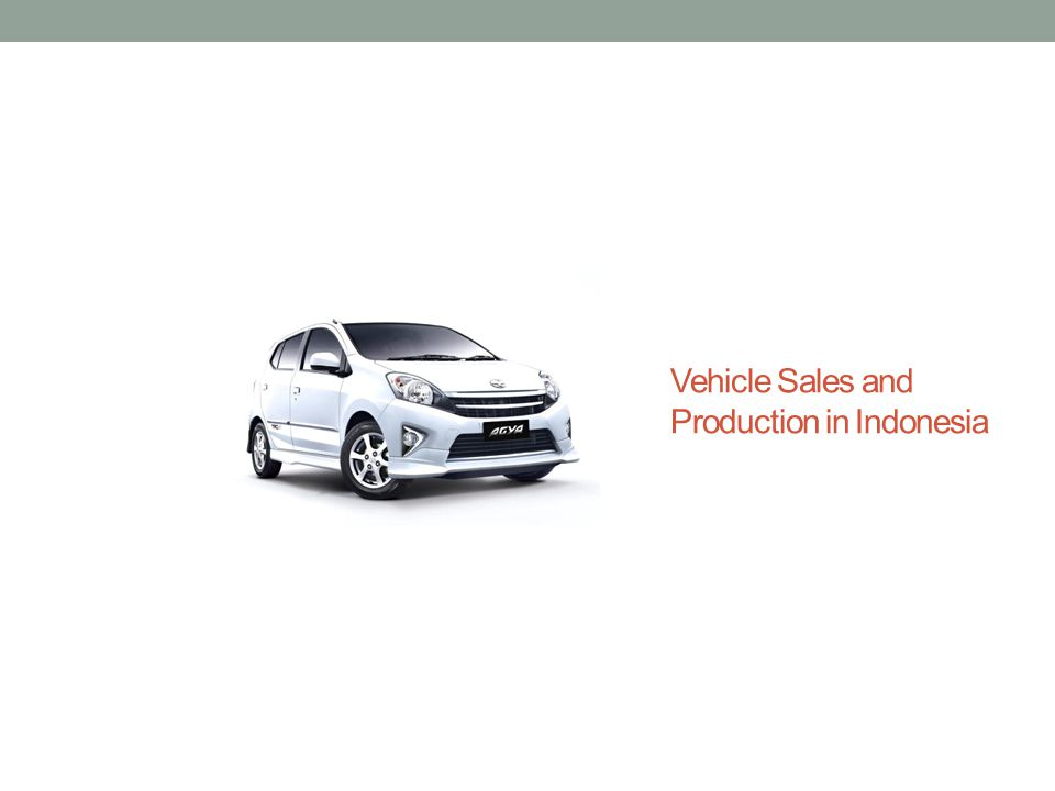 Vehicle Sales and Production in Indonesia