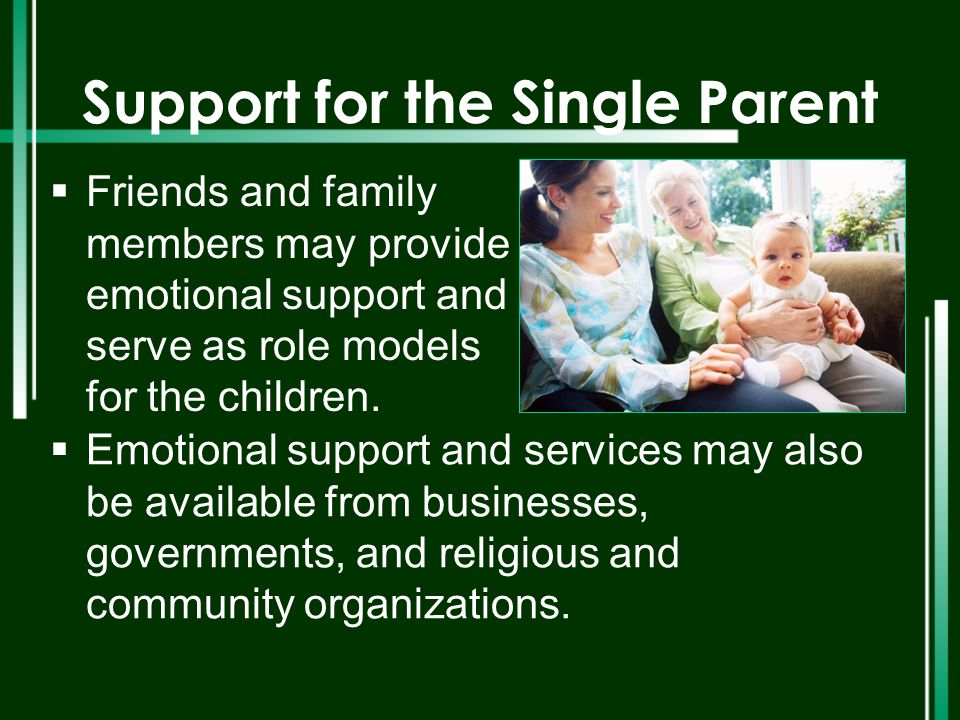 Support for the Single Parent