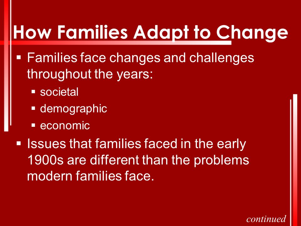 How Families Adapt to Change