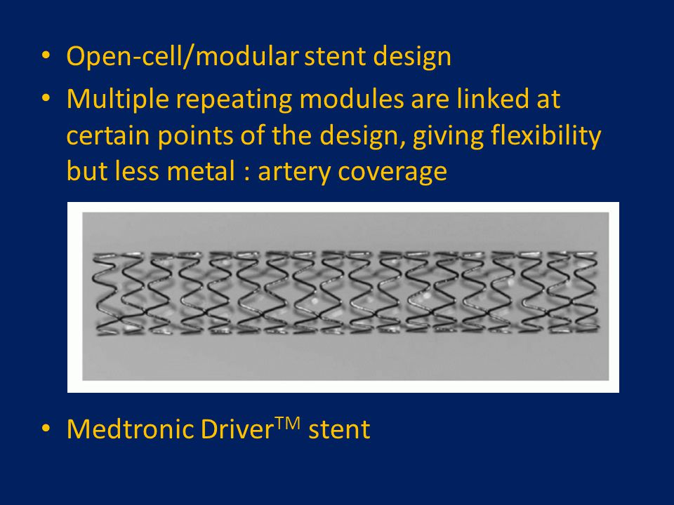 Open-cell/modular stent design