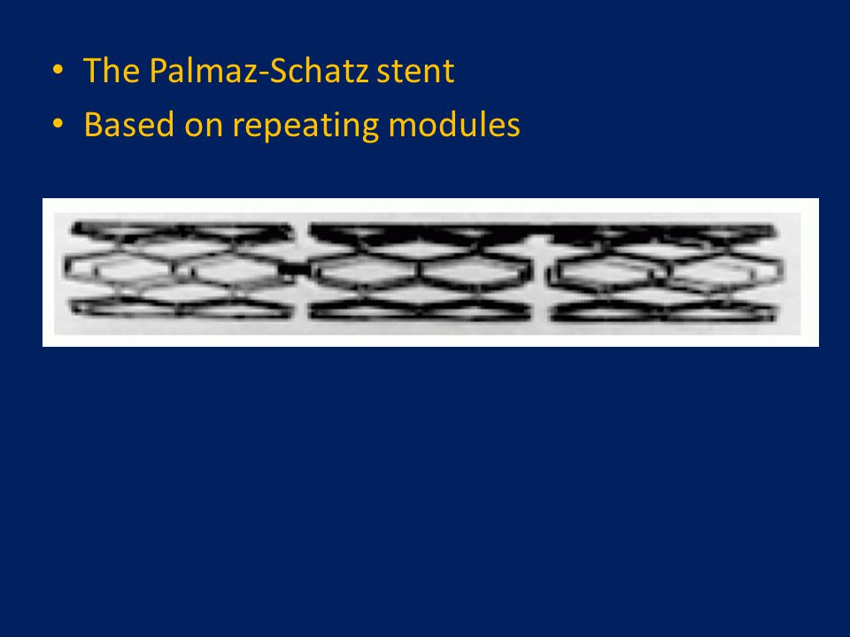 The Palmaz-Schatz stent