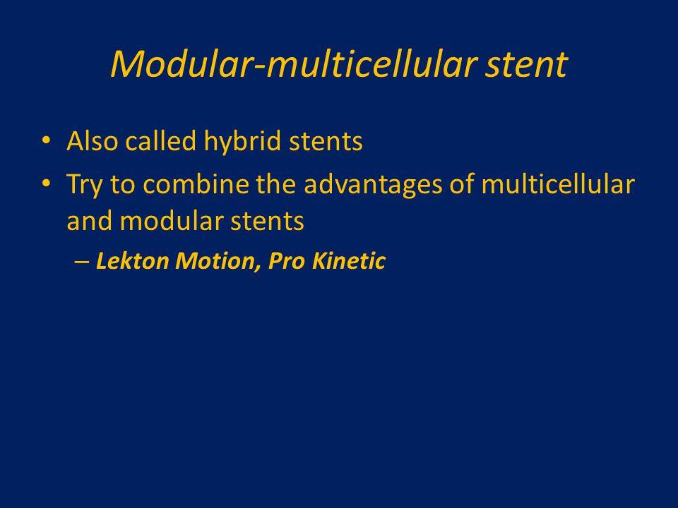 Modular-multicellular stent