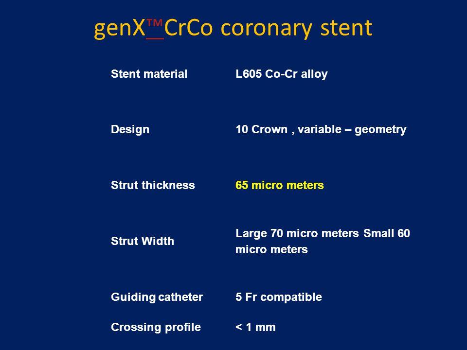 genX™CrCo coronary stent